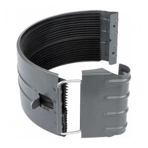 З'єднувач жолоба Акведук Преміум 150 мм графітовий RAL 7011
