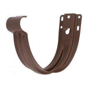 Тримач жолоба Акведук Преміум до лобової дошки 125 мм коричневий RAL 8017