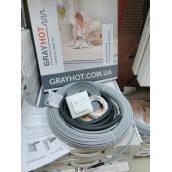 Кабель нагревательный Grayhot двухжильный для электрического теплого пола под плитку без стяжки