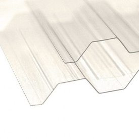 Профилированный поликарбонат TM Borex 1,05x3,0x0,8 мм прозрачный