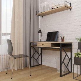 Рабочий стол Ромбо Лофт Металл-Дизайн 760х1100х550 мм
