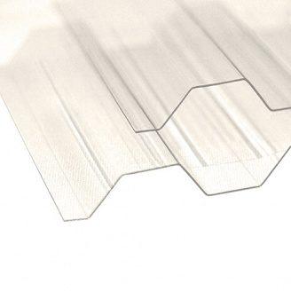Профільований полікарбонат ТМ Borex 1,05 м 6,0 м 0,8 мм прозорий