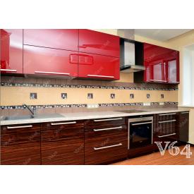 Кухня прямая МДФ-зебрано под заказ индивидуальный гарнитур