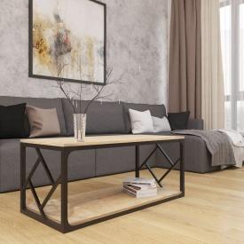 Журнальный столик Ромбо Лофт Металл-Дизайн 1100х500х470 мм
