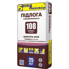 Наливной пол Будмастер ДОЛИВКА-108 25 кг