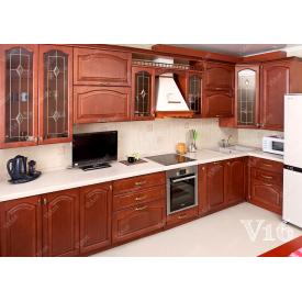 Кухня п-подібна мдф на замовлення індивідуальний стіна V16