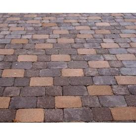 Тротуарна плитка Золотий Мандарин Цегла Антик 80х240х160 мм коричнева