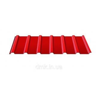 Профнастил покрівельний С-18 0,45 PE червоний (RAL 3011)