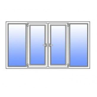 Металлопластиковое окно Стимекс KBE 58 3100х1300 мм