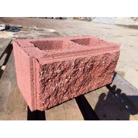 Блок декоративний будівельний червоний 390х190х190 мм