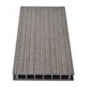 Террасная доска Gamrat брашированная 25х160х3000 мм темно-коричневый
