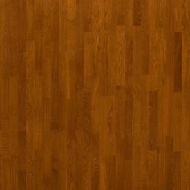 Паркетная доска трехполосная Focus Floor Дуб PONIENTE коньячный лак 2266х188х14 мм