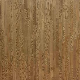 Паркетная доска трехполосная Focus Floor Ясень PAMPERO легкий браш бежевое масло 2266х188х14 мм