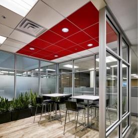 Акустическая влагостойкая плита Rockwool Rockfon Color All 600x600x15 мм красная