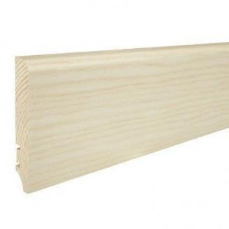 Плінтус дерев'яний Barlinek P61 Ясен білий матовий лак 90х16х2200 мм