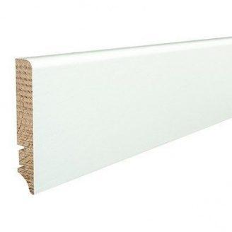 Плінтус дерев'яний Barlinek P61 вкритий білою плівкою 90х16х2200 мм
