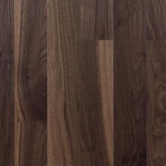 Паркетна дошка Serifoglu односмугова Американський Горіх Люкс+Стандарт Seriloc 1805х146х14 мм лак