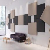 Акустическое дизайнерское панно Rockwool Rockfon Wall Panel КВАДРАТ 1160х1160х40 мм