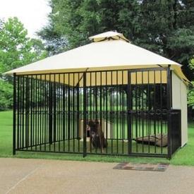 Вольер для собак из профильной трубы 4х4 м