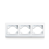 Рамка тройная для розеток и выключателей ERSTE THEME 9209-83 белая