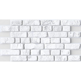 Листовая панель ПВХ Регул кирпич Ретро белый 0,4 мм 951x495 мм