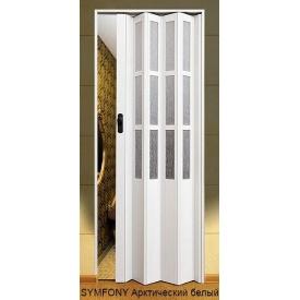 Двері-гармошка пластикова SYMFONY арктичний білий 2,03x0,86 м.