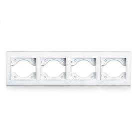 Рамка чотиримісна для розеток і вимикачів ERSTE THEME 9209-84 біла