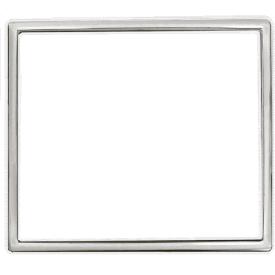 Кольцо декоративное вставное для розеток и выключателей ERSTE THEME 9209-RC серебро
