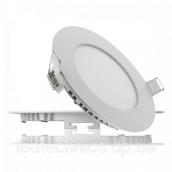 Світильник світлодіодний UKRLED вбудовуваний 9W 810Lm 4200К алюміній круглий (410)