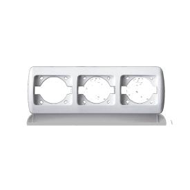 Рамка тройная для розеток и выключателей ERSTE CLASSIC 9201-83 белая