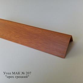 Угол пластиковый ПВХ текстура под дерево Mak Польща 2,7 м 207 40x40