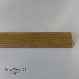 Угол отделочный пластиковый WEST текстура под дерево 2,7 м 10x20 138