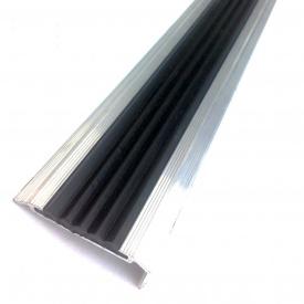 Профиль антискользящий для ступеней с резиновой вставкой 48x20мм 3 м