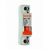 Автоматический выключатель ElectrO ВА1-63 1 полюс 25A 4,5кА х-ка B (45VA63B1025)