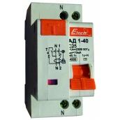 Дифференциальный автоматический выключатель ElectrO АД1-40 1 полюс+N 40А 30мА 6kA АС (60AD4040E30)