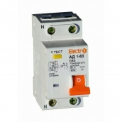 Дифференциальный автоматический выключатель ElectrO АД1-63 1 полюс+N 25А 10мА 4,5kA АС (45AD6325E10)