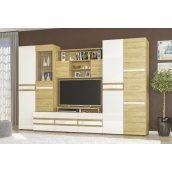 Стінка Гламур Меблі-Сервіс дуб золотий 198х300х57 см