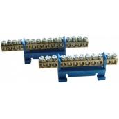 Нулевая N шина ElectrO 6x9 с изолятором на DIN-рейку 7 отверстий до 40А (SH6X9DIN07)
