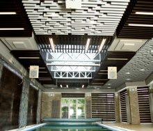 "Алюминиевый кубообразный потолок ""Бард"" над бассейном"