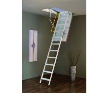 Чердачная лестница Steel Termo 120х70 см Minka белая металлическая с утепленным люком
