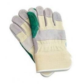 Перчатки комбинированные мод. MAGPIE хлопок/телячий спилок р.12 (63018)