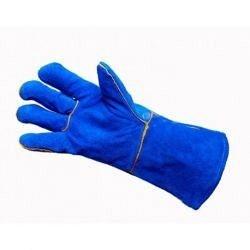 Краги сварщика Doloni 4508 с подкладкой синие р.10 (63042)