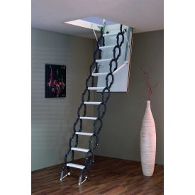 Чердачная лестница Elegance Termo 120х70 см Minka раздвижная металлическая с утепленным люком