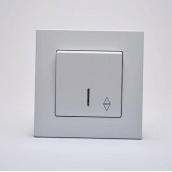 Переключатель Gunsan Eqona одноклавишный с подсветкой Белый (1401100100108)