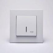 Кнопка контролю освітлення Gunsan Eqona з підсвічуванням Біла (1401100100106)
