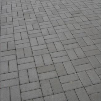 Тротуарная плитка Золотой Мандарин Кирпич стандартный 200х100х40 мм серый