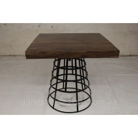 Стол квадратный IRON BASE TABLE CHOCOLATE