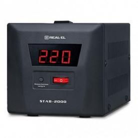 Cтабилизатор напряжения REAL-EL STAB-2000 (EL122400009)