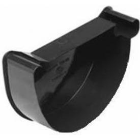 Зовнішня заглушка Wavin Kanion ліва 130х25 мм чорна