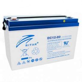Акумуляторна батарея RITAR DC12-80 12V 80Ah(7390)